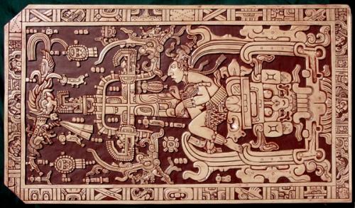 Mayan ruler Kinich Janaab Pakal Sarcophagus lid